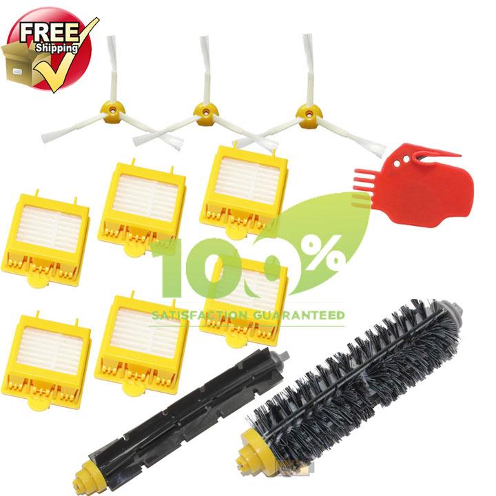 HEPA Filter,Side Brush,Brush Cleaner,Bristle & Flexible Beater Brush for iRobot Roomba 700 770 780 790 Cleaner Brush Filter(China (Mainland))