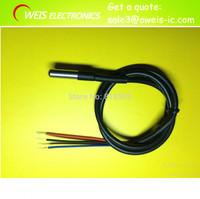 10pcs/lot  DS18B20 waterproof 1 meters temperature probe temperature sensor new in stock