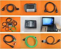Top Quality A+ MB SD CONNECT MB Star C4 Compact 4 Star with X200T Laptop (Software SSD is 5.2014, WIFI, 12V + 24V)