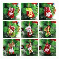 GAGA!Free shipping shipping high quality beautiful and lovely santa claus and cartoon animal christmas stocking,228pcs/lot,YS2-1