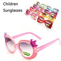 Wholesale Fashion Children Girls Princess Crown Sunglasses Kids Discount Birthday Party Eyewear