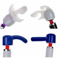 Free shipping 4pcs Silicone wand accessory,hot HITACHI Magic Wand Massager head attachment accessories