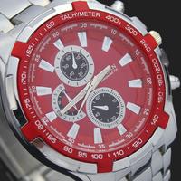 High Quality Red Face Fashion Man Boy's Dress Sports Hour Gifts Men's Quartz Analog Wrist Watches Clocks NC01, Free Shipping