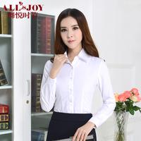2014 spring white shirt female long-sleeve slim shirt women's work wear formal