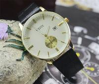 Brand New high quality cow leather strap watch Men Women fashion dress quartz wrist watch business watches