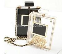 Perfume bottle bags small sachet chain bag transparent bag acrylic evening bag small bag women's handbag