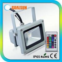DHL/Fedex 10pcs/lot Free shipping RGB 10w Led flood light,16 color change 10watt led floodlight with IR remote