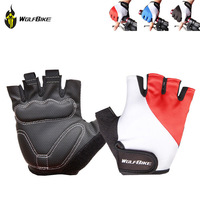WOLFBIKE Running Glove Bicycle Half Finger Glove Cycling Gloves Mountain Bike Riding Fitness Fox Racing ciclismo Anti-slip Glove