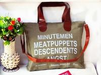 High quality 2014 NEW Korea English letter women canvas bags women shoulder bags women handbag women messenger bags
