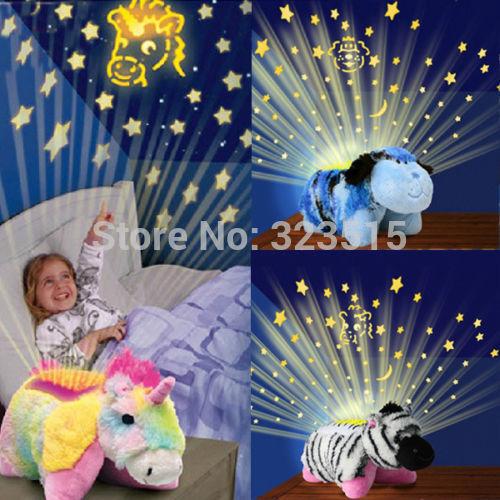 2014 New Bear Night Light Kids Baby Children Star Lamps Plush Toys Sleep Sky Projector(China (Mainland))