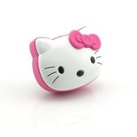 50pcs DHL Hotting!!! New Hello Kitty Cartoon Loving Mini Portable Speaker Amplifier FM Radio USB MicrSD TF Card MP3 Player