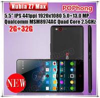 5.5''1920*1080 ZTE Nubia Z7 Max Android Phone FDD LTE 4G Snapdragon 801 2.5GHz 2GB+32GB Camera 13.0MP