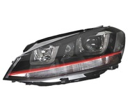 2014 Volkswagen VW Golf MK7 GTI Version Headlight with Double LED U Bar DRL and Bi-xenon Projector (Fits: Golf)