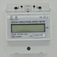 230V 100A 50HZ LCD DIN-rail Type Kilowatt Hour kWh Single Phase Energy Meter WHite Drop Free shipping