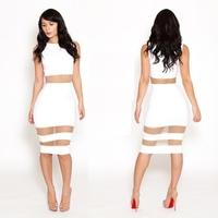 New Women Sexy Club dress Gauze Slim Cocktail Long Perspective Dress   free shipping