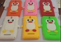For Sony Xperia E C1605 Cute Penguin Silicone Back Case,For Sony Xperia E C1605 penguin case Free Shipping by Hongkong post