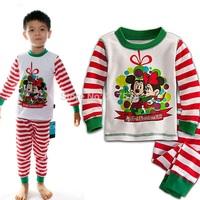 Pyjama Conjunto Infantil Meninas Clothing Set Girl Homewears Kids Pajamas Frozen Christmas Sleepwear Elsa Anna 2-7T Boy Homewear