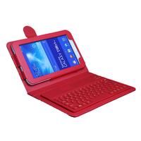 "For Samsung Galaxy Tab 3 Lite 7.0 7"" SM-T110 T111 Wireless Bluetooth Keyboard Case Cover + Free Film + Stylus"