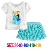 Vestidos Infantis Real Regular Vestido Infantil 2014 New Girls' Frozen Kid's Cartoon Summer Tutu Girl's Princess Dress Lovable