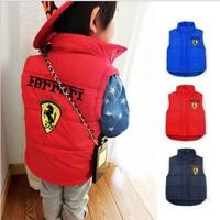 2014 Hot Sale Canvas Children New Arrival free Shipping 5pcs/lot Winter Fashion Brand Cotton Boy Vest Kids Clothes Coat 3 Colors
