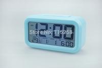 LED luminous clock Temperature display clock Sleep electronic clock with Calendar gradient table alarm