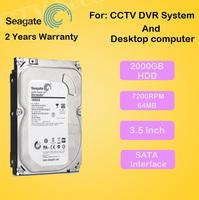 "Free Shipping New 2000gb 3.5"" inch Hard disk 2TB 7200rpm 64MB SATA Internal HDD for Desktop DVR recorder CCTV system"