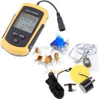 328ft/100m Depth Portable Wireless Sonar Sensor Fish Finder digital LCD Fishfinder Fishing Alarm Beam Transducer Free Shipping