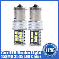 High Quality 2pcs a lot New DC12-30V Auto Car LED Brake Back Up Light 1156 Ba15s 3535 Chips Reverse Bulb