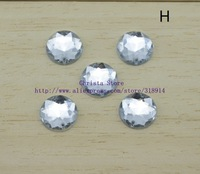 Classic 100pcs/lot 12mm Round Flat Back Rhinestones Sewing Acrylic Transparent Wedding Dress Accessories For DIY Free Shipping