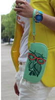 10pcs wholesales 2014 Women Luxury Owl Printing Women's Long Design Female Magic Womens Designer Wallets/Purses 21*10*2 CM