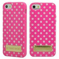 New 2014 Victoria/s Secret PINK Polka Dot Stripes Phone Cases for apple iPhone 5 5s VS soft tpu fashion women cover capa celular