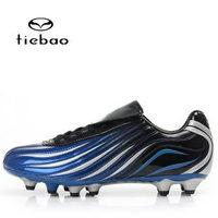 Series super-fibre leather black gel nails football shoes