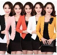 2014 Black/Red/Pink/White/Yellow tops L,XXL,3XL,4XL,5XL Fashion slim flower plus size women coats clothing woman blazer jacket