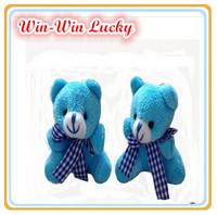 2014 New Fashion Cute Teddy Bear Plush Toys. Plaid Scarf Bear Doll. Children's Toys Kids Gift 20pcs / lot 4 Colors Available