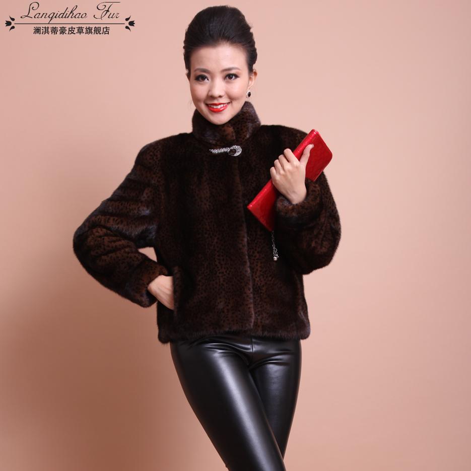 2013 short design , marten overcoat fur , mink fur coat for women(China (Mainland))