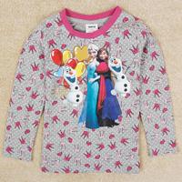 Free Shipping New Design Frozen Girl's T Shirts 100% Cotton  Girls T Shirts Long Sleeve Frozen Clothing