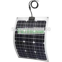 30W  MONO semi-flexible solar panel 18V for PV RV CAR battery charger Bendable Marine UK STOCK