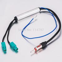 Two Way OEM Car Radio Antenna Adapter Diversity System Fakra for Audi VW BMW Volkswagen Radio