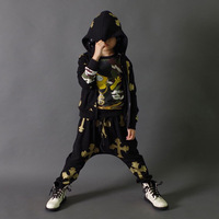 hot selling hot sale Children's clothing male child set spring and autumn 2014 medium-large child sportswear harem pants twinset