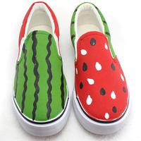 Elastic strap low women's shoes cartoon cow muscle shoes outsole parent-child summer watermelon lovers