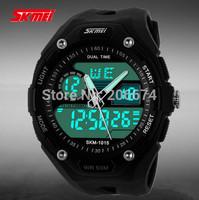 Hot Original SKmei Men Outdoor climbing sports watches Dual Time Chronograph 50M Waterproof Swim LED Digital Quartz Watch
