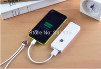 Thin polymer mini charging treasure mobile power bank supply free shipping 4000mah