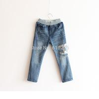 New 2014 Children's Jeans Boys' Jeans Casual Letter Pattern Kids Denim Pants Girls Fall Trousers Full Length Autumn Wear