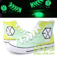 Canvas shoes exo luminous hand-painted shoes graffiti shoes Hand-painted shoes
