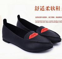 Women hot mouth shoes,hot shoes for women,New 2014 women flat heel single shoes,Casual shoes