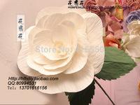 Diameter of  30 40 50 to 60 cm wedding studio supplies  paper flowers  simulation silk flowers white rose