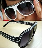 sunglasses Double stripe retro frame sunglasses glasses