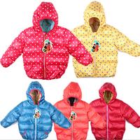 Children clothes brand kids jackets children kids outerwear polka dot clothing girls winter coat thickening down jacket  HC050