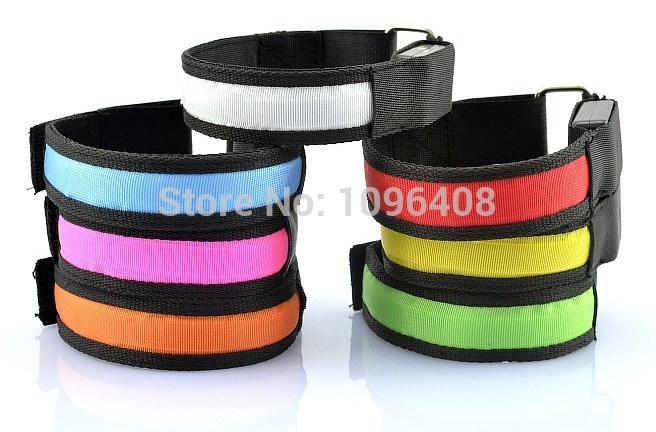 5pcs/lot Fashion flash led arm bracelet ,arm wristband Event Party Supply(China (Mainland))