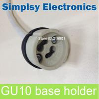 10pcs/lot LED Strip Connector GU10 lamp holder GU10 Socket For Halogen Ceramic Light Bulb Lamps Holder Base Wire Free Shipping